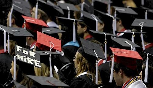 Afgestudeerd en daarna werk zoeken