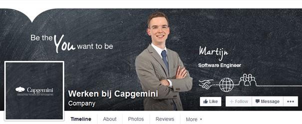 Facebookpagina Werken bij Capgemini