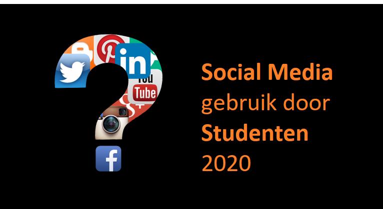 Dé social media kanalen waar studenten gebruik van maken in 2020
